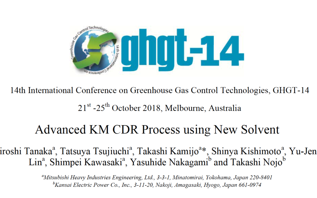 14th International Conference on Greenhouse Gas Control Technologies, GHGT-14